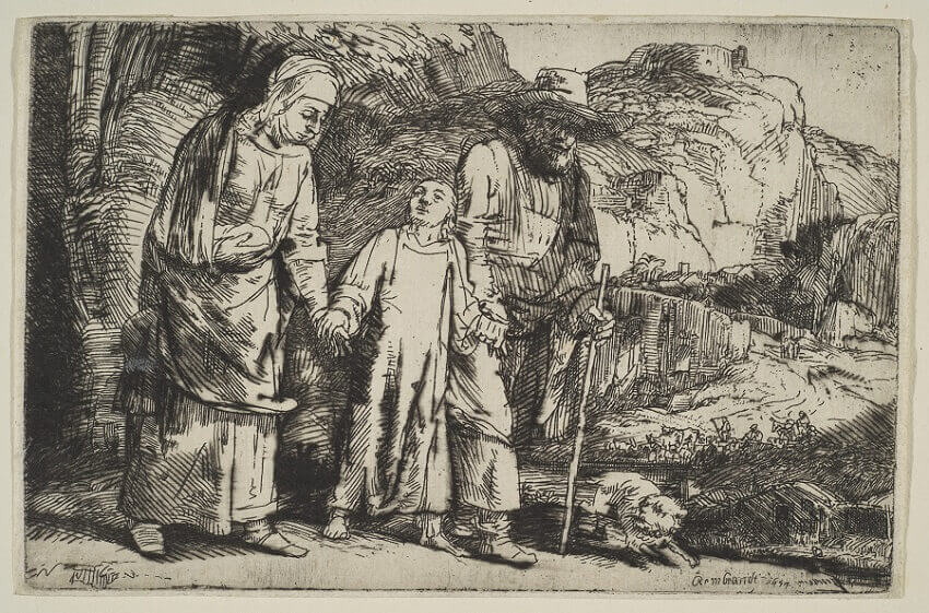 Christ Returning from the Temple with his Parents, 1654 by Rembrandt