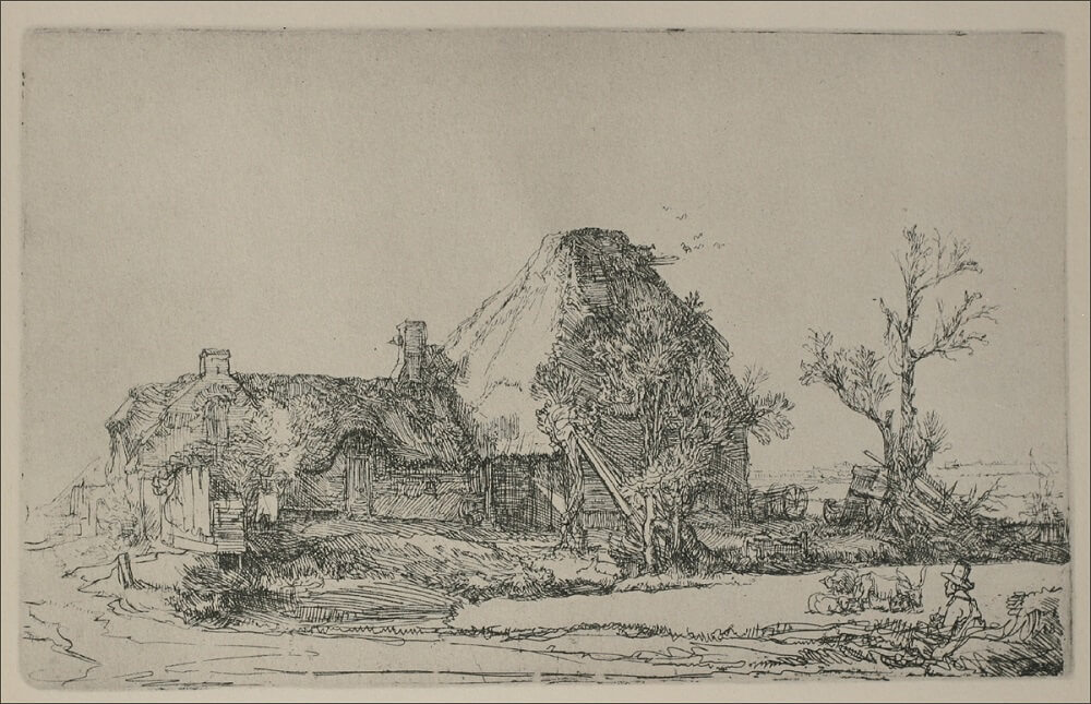 Landscape with Cottage by Rembrandt