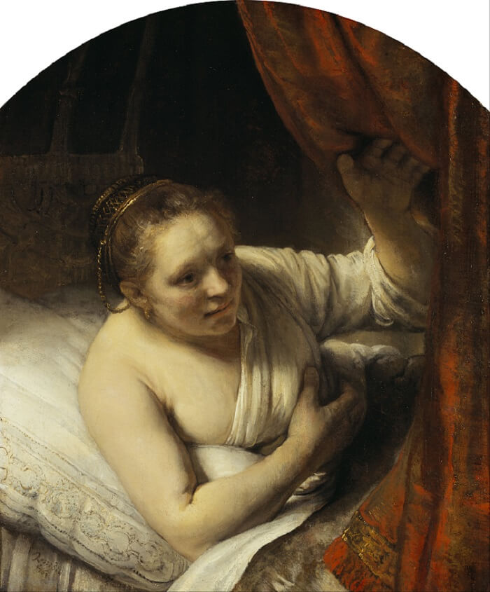 A Woman in Bed by Rembrandt