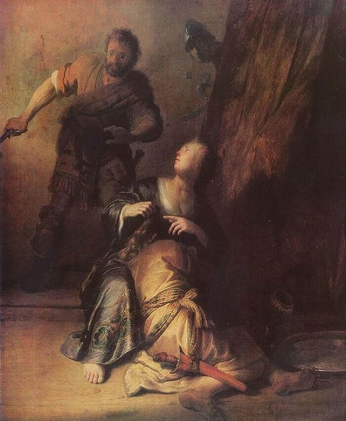Samson and Delilah, 1629 by Rembrandt