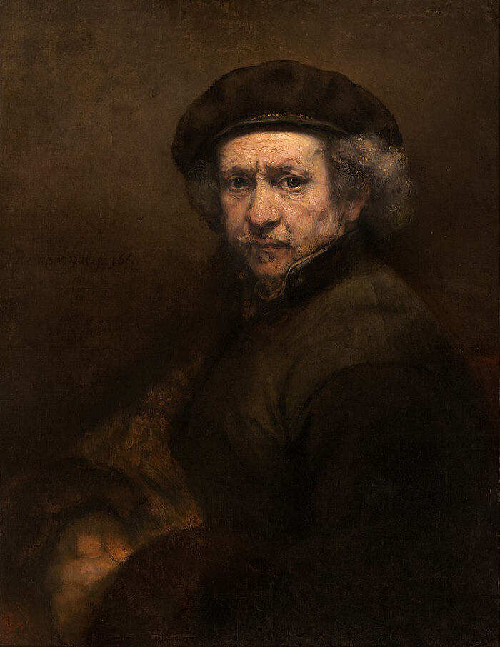 Self-Portrait with Beret and Turned-Up Collar, 1659 by Rembrandt