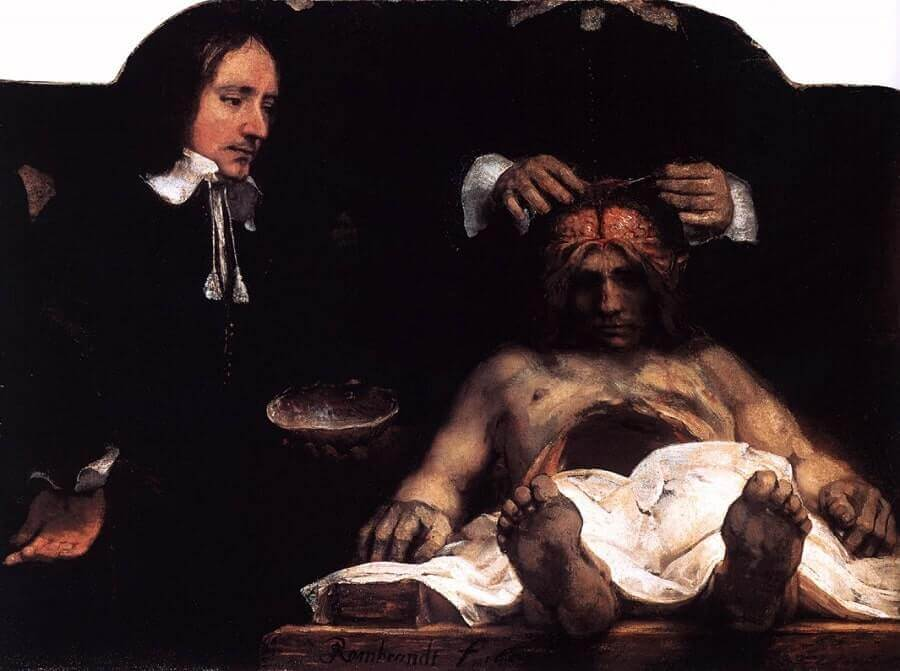 The Anatomy Lesson of Joan Deyman, 1656 by Rembrandt