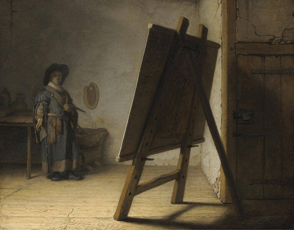 Artist in his Studio, 1628 by Rembrandt
