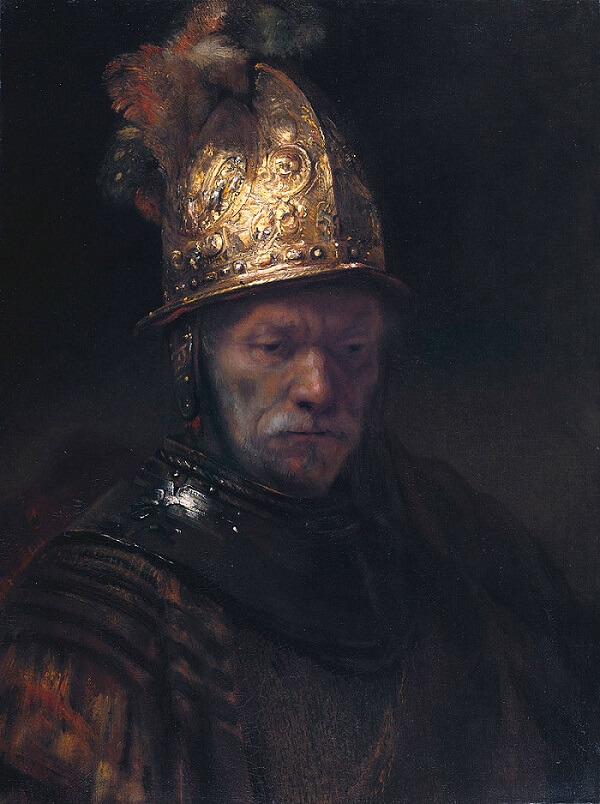 The Man with the Golden Helmet, 1650 by Rembrandt