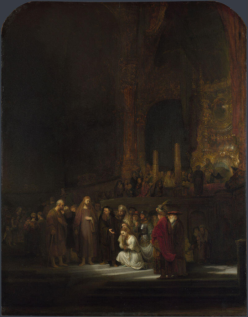 The Woman Taken in Adultery, 1644 by Rembrandt