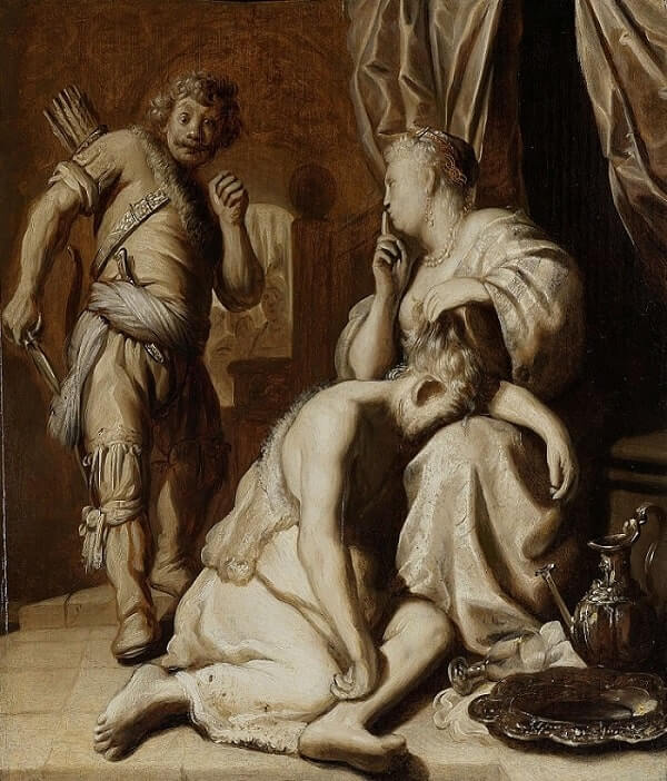 Samson and Delilah, 1629 by Jan Lievens